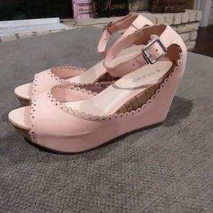 Blush Wedge Sandals size 6